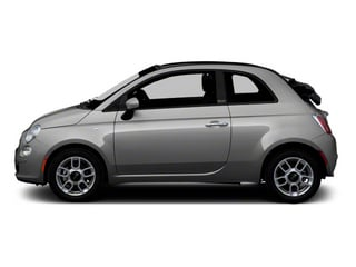 Argento (Silver) 2012 FIAT 500 Pictures 500 Convertible 2D Lounge photos side view