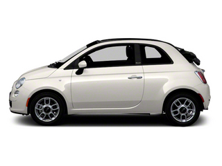 Bianco (White) 2012 FIAT 500 Pictures 500 Convertible 2D Lounge photos side view