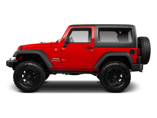 Flame Red 2012 Jeep Wrangler Pictures Wrangler Utility 2D Sahara 4WD photos side view