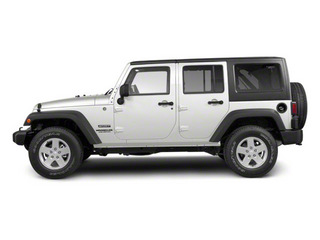 Bright White 2012 Jeep Wrangler Unlimited Pictures Wrangler Unlimited Utility 4D Unlimited Altitude 4WD V6 photos side view