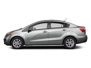 Bright Silver 2012 Kia Rio Pictures Rio Sedan 4D LX photos side view