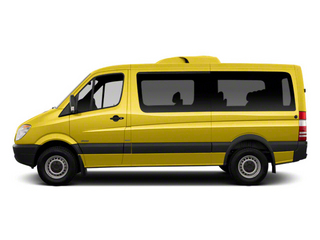 Calcite Yellow 2012 Mercedes-Benz Sprinter Passenger Vans Pictures Sprinter Passenger Vans Passenger Van High Roof photos side view