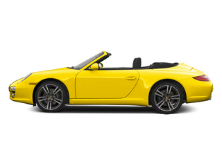Racing Yellow 2012 Porsche 911 Pictures 911 Cabriolet 2D S photos side view