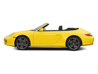Speed Yellow 2012 Porsche 911 Pictures 911 Cabriolet 2D 4S AWD photos side view