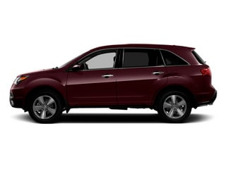Dark Cherry Pearl 2013 Acura MDX Pictures MDX Utility 4D Technology AWD V6 photos side view