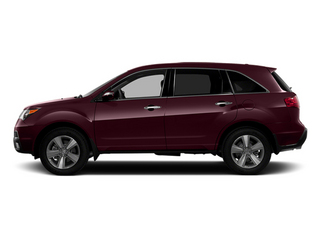 Dark Cherry Pearl 2013 Acura MDX Pictures MDX Utility 4D Technology DVD AWD V6 photos side view