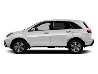 Aspen White Pearl 2013 Acura MDX Pictures MDX Utility 4D AWD V6 photos side view