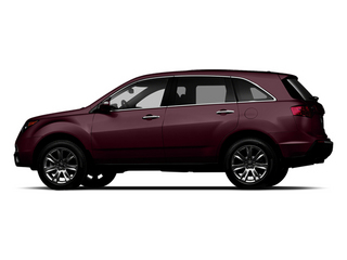 Dark Cherry Pearl 2013 Acura MDX Pictures MDX Utility 4D Advance DVD AWD V6 photos side view