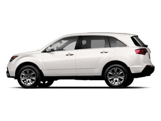 Aspen White Pearl 2013 Acura MDX Pictures MDX Utility 4D Advance DVD AWD V6 photos side view