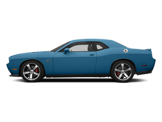 Jazz Blue Pearl 2013 Dodge Challenger Pictures Challenger Coupe 2D SRT-8 V8 photos side view