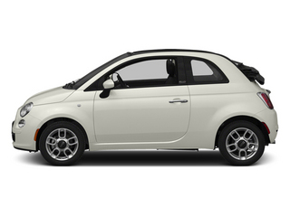 Gucci White 2013 FIAT 500 Pictures 500 Convertible 2D Lounge I4 photos side view