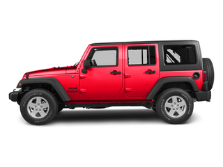 Flame Red 2013 Jeep Wrangler Unlimited Pictures Wrangler Unlimited Utility 4D Unlimited Sahara 4WD photos side view