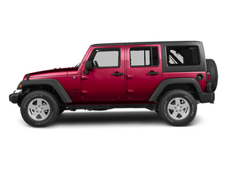 Deep Cherry Red Crystal Pearl 2013 Jeep Wrangler Unlimited Pictures Wrangler Unlimited Utility 4D Unlimited Sahara 4WD photos side view