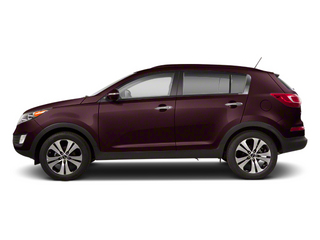 Black Cherry 2013 Kia Sportage Pictures Sportage Utility 4D LX 2WD I4 photos side view