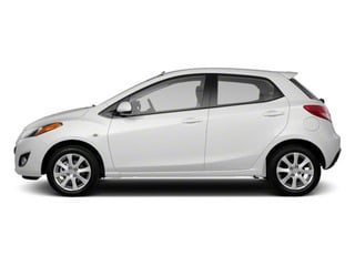 Crystal White Pearl 2013 Mazda Mazda2 Pictures Mazda2 Hatchback 5D Touring I4 photos side view