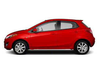 True Red 2013 Mazda Mazda2 Pictures Mazda2 Hatchback 5D Touring I4 photos side view