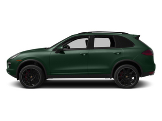 Jet Green Metallic 2013 Porsche Cayenne Pictures Cayenne Utility 4D Turbo AWD (V8) photos side view