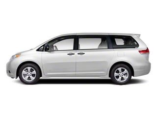 Super White 2013 Toyota Sienna Pictures Sienna Wagon 5D LE AWD V6 photos side view