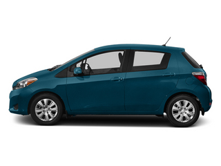 Lagoon Blue Mica 2013 Toyota Yaris Pictures Yaris Hatchback 5D LE I4 photos side view
