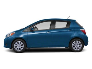 Blazing Blue Pearl 2013 Toyota Yaris Pictures Yaris Hatchback 5D LE I4 photos side view