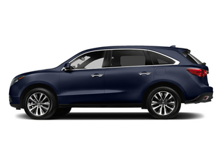 Fathom Blue Pearl 2014 Acura MDX Pictures MDX Utility 4D Technology DVD 2WD V6 photos side view