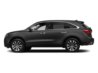 Graphite Luster Metallic 2014 Acura MDX Pictures MDX Utility 4D Technology DVD 2WD V6 photos side view
