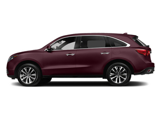Dark Cherry Pearl 2014 Acura MDX Pictures MDX Utility 4D Technology DVD 2WD V6 photos side view