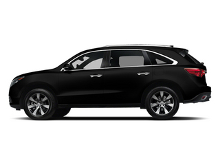 Crystal Black Pearl 2014 Acura MDX Pictures MDX Utility 4D Advance DVD AWD V6 photos side view