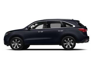Fathom Blue Pearl 2014 Acura MDX Pictures MDX Utility 4D Advance DVD 2WD V6 photos side view