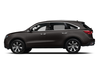 Graphite Luster Metallic 2014 Acura MDX Pictures MDX Utility 4D Advance DVD 2WD V6 photos side view