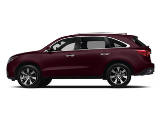Dark Cherry Pearl 2014 Acura MDX Pictures MDX Utility 4D Advance DVD AWD V6 photos side view