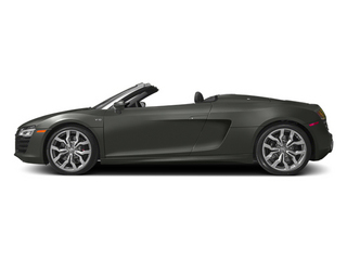 Daytona Gray Pearl Effect/Black Roof 2014 Audi R8 Pictures R8 2 Door Convertible Quattro Spyder V8 (Auto) photos side view