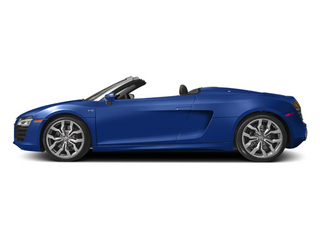 Sepang Blue Pearl Effect/Black Roof 2014 Audi R8 Pictures R8 2 Door Convertible Quattro Spyder V10 (Auto) photos side view
