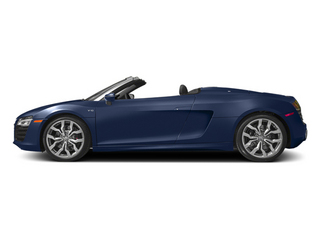 Estoril Blue Crystal Effect/Black Roof 2014 Audi R8 Pictures R8 2 Door Convertible Quattro Spyder V8 (Auto) photos side view