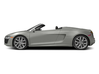 Suzuka Gray Metallic/Black Roof 2014 Audi R8 Pictures R8 2 Door Convertible Quattro Spyder V8 (Manual) photos side view