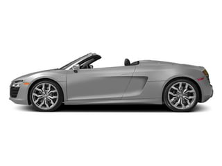 Ice Silver Metallic/Black Roof 2014 Audi R8 Pictures R8 2 Door Convertible Quattro Spyder V8 (Manual) photos side view