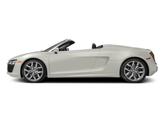 Ibis White/Black Roof 2014 Audi R8 Pictures R8 2 Door Convertible Quattro Spyder V8 (Auto) photos side view
