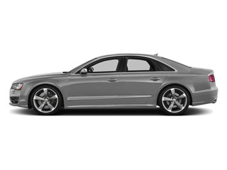 Ice Silver Metallic 2014 Audi S8 Pictures S8 Sedan 4D S8 AWD V8 Turbo photos side view