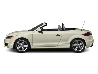 Glacier White Metallic/Black Roof 2014 Audi TT Pictures TT Roadster 2D AWD photos side view