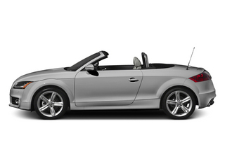 Ice Silver Metallic/Black Roof 2014 Audi TT Pictures TT Roadster 2D AWD photos side view
