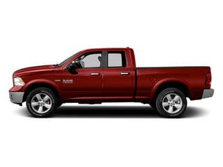 Flame Red Clearcoat 2014 Ram Truck 1500 Pictures 1500 Quad Cab Outdoorsman 4WD photos side view