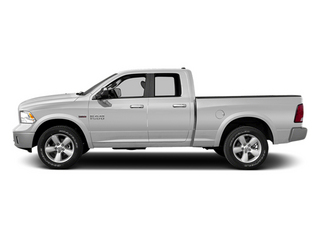 Bright White Clearcoat 2014 Ram 1500 Pictures 1500 Quad Cab Laramie 4WD photos side view