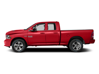 Flame Red Clearcoat 2014 Ram 1500 Pictures 1500 Quad Cab Sport 4WD photos side view