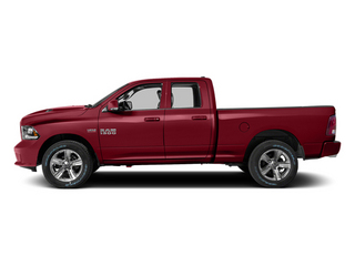 Deep Cherry Red Crystal Pearlcoat 2014 Ram 1500 Pictures 1500 Quad Cab Sport 4WD photos side view