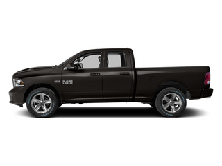 Black Clearcoat 2014 Ram 1500 Pictures 1500 Quad Cab Sport 4WD photos side view