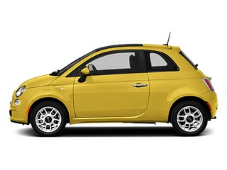 Giallo (Yellow) 2014 FIAT 500 Pictures 500 Hatchback 3D Pop I4 photos side view