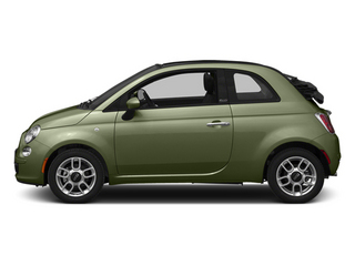 Verde Oliva (Olive Green) 2014 FIAT 500c Pictures 500c Convertible 2D Lounge I4 photos side view