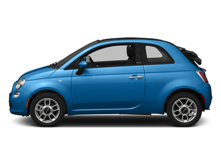Verde Azzurro (Blue-Green) 2014 FIAT 500c Pictures 500c Convertible 2D Lounge I4 photos side view