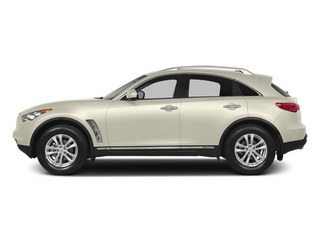 Moonlight White 2014 INFINITI QX70 Pictures QX70 Utility 4D AWD V6 photos side view