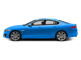 French Racing Blue 2014 Jaguar XF Pictures XF Sedan 4D XFR-S V8 Supercharged photos side view